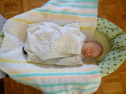 Before: Little Dude when he was 8 days old.