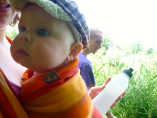Out for a walk with his uncle and myself.