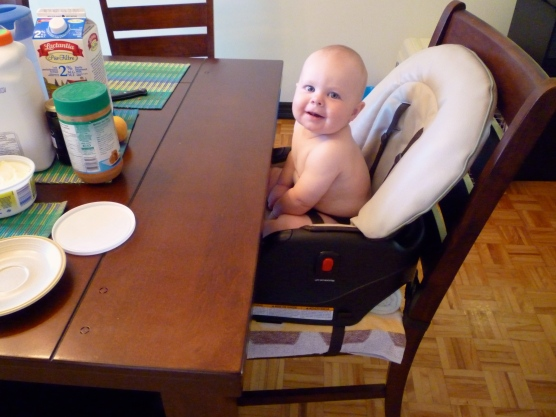 Bye bye high chair, hello booster seat!