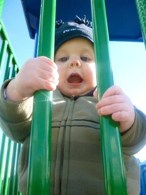 Having fun at the park.