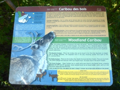 To cater to the needs of the visitors, each information panel is bilingual (French/English).