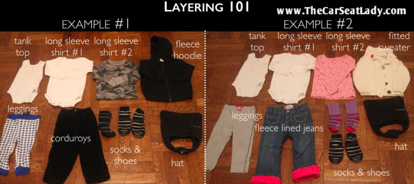 An example of layering.  Photo used with permission.