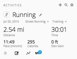 First 30 min run